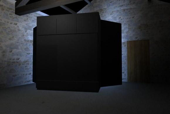 Néon cube / Unité d'habitation