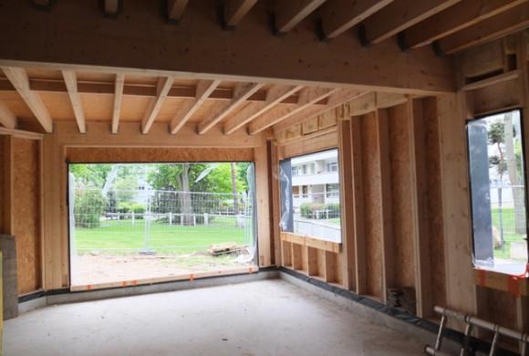 Structure bois pour logements accessibles aux personnes handicapées.